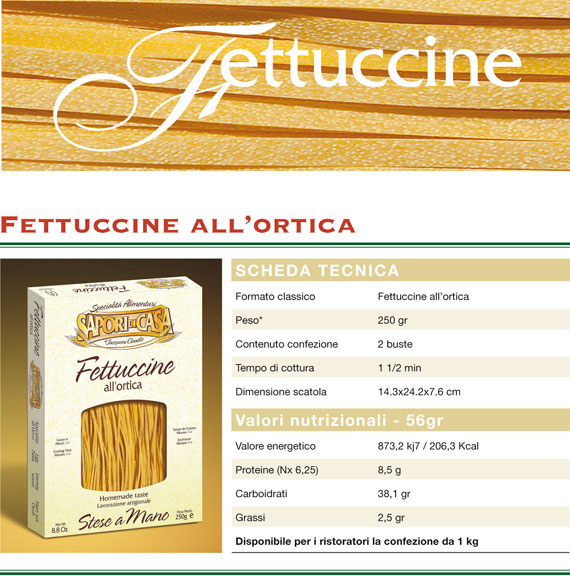 fettuccine all'ortica